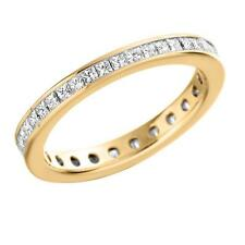 9 Carat Yellow Gold Eternity Fine Diamond Rings