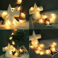 10 LED Christmas Fairy String Lights Wedding Xmas Lamp Party Home Decoration US
