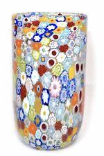 Mario Formentello - Vaso con murrine in vetro di Murano firmato