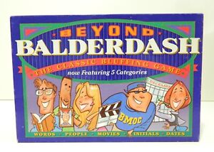 Parker Brothers Family Fun Board Game Beyond Balderdash Open Box Never Played