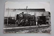 Lok ( Dampflok ) - Ty45-285 - im polnischen Lokomotivstellwerk um 1950- Großfoto