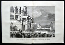 OPENING OF THE PARIS EXHIBITION 1878 Exposition Universelle VICTORIAN ENGRAVING