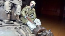 german soldier tankrider kar98 scale 1:16 Resin kit 120 mm