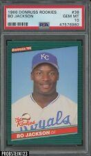 1986 Donruss Rookies #38 Bo Jackson Kansas City Royals RC Rookie PSA 10