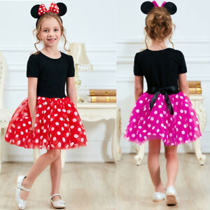 Fancy Minnie Mouse Dress Up for Girls Clothing For Kids Birthday Party Costume