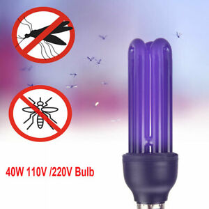 1/2/5/10PCS AC 110/220V 40W UV Light E27 Lamp Blacklight Low Energy 395nm Bulb