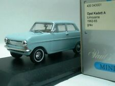 WOW EXTREMELY RARE Opel Kadett A Sedan 2d 1962 Grey Blue 1:43 Minichamps-Rekord