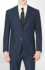 $400 NWT Men Calvin Klein Suit Jacket 42 Long 100% Wool Classic Fit Blazer Navy
