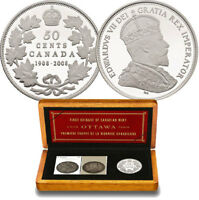2008 Royal Canadian Mint 100th Anniversary Coin & Stamp Set