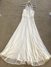BCBG paris Dress eggshell White Sz 6 Long gown dress halter