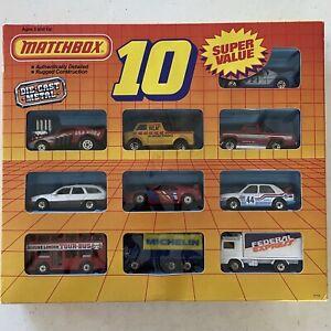 1989 Vintage Matchbox Super Value 10 Pack Motorcity Play Set #0110