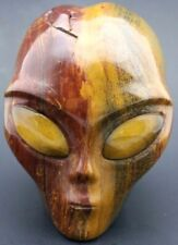 Alluring TIGER Iron ALIEN Stone Art Carving w TIGER EYE Eyes Mineral SCULPTURE