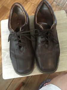 Mens Brown Clarks Shoes Size 8