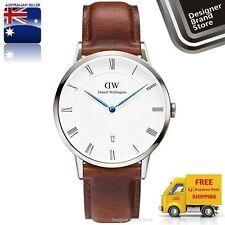 New Daniel Wellington Watch Dapper St Mawes 38MM Silver & Brown Leather 1120DW