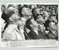 Baseball Press Photo John Kennedy & Lyndon Johnson  Senators White Sox JFK 1961