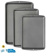 Wilton Bake It Better Non-Stick Baking Pan Set, 3-Piece Tray For Cookies