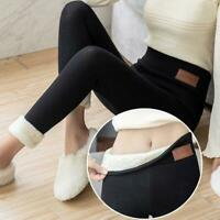 Women Winter Thick Warm Soft Fleece Lined Thermal Stretchy Legging Pants S-5XL