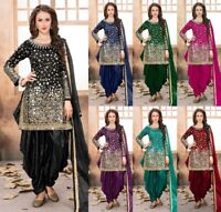 Patiala Suit Salwar Punjabi Kameez Indian Designer Shalwar Dress Sc Wedding Wear