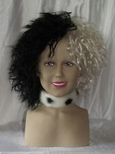 Cruella De Ville Neck Chocker 101 Dalmation Fur Fabric Fancy dress Halloween
