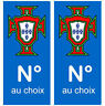 Autocollant Portugal armoirie département plaque immatriculation auto numéro