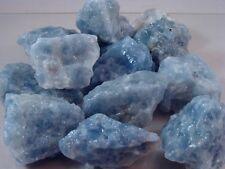 Premium BLUE CALCITE Rock Rough Mix for Rock Tumbler