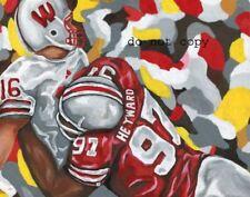 Cameron Heyward  Buckeyes Painting signed