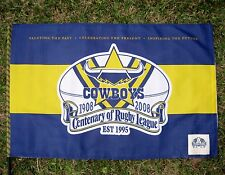 NRL NORTH QUEENSLAND COWBOYS FLAG Centenary Large 900x600mm  on stick - NEW!