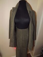ZARA BASIC Women's Skirt Suit Size 8/M  SUEDE FEEL MATERIAL - ZIP BLAZER