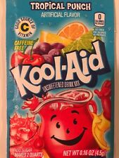 100 TROPICAL PUNCH Kool Aid Drink Mix popsicle flavor taste summer dye fun