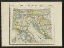 """""""Partie de l'Italie"""" #20 N Italy Switzerland Croatia. VANDERMAELEN 1827 map"""