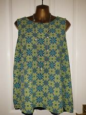 Worn Once!.Plus size Gok Wan Collection Sleeveless Top 2-1Green Navy Blue Uk20
