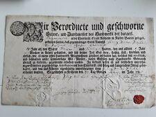 Ancien doc allemand 1785/zwei kreu /deux croix/traduction difficile