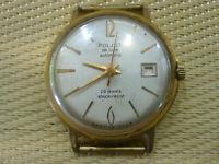 gold plated Vintage USSR made Men's Wrist Watch POLJOT DE LUXE AUTOMATIC