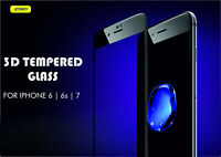 Full Curved 3D HD Tempered Glass Screen Protector for Apple iPhone 6 Black - UK