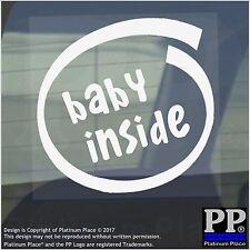 1 x Bambino all'interno-Finestra, Auto, Furgone, STICKER, SEGNO, veicolo, Adesivo, a bordo, di avvertenza