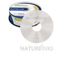 25 x MediaRange De marca discos CD-R vacíos 48x 100 min 900MB 100 minutos MR222