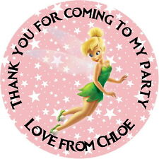 TINKERBELL PERSONALISED GLOSSY,  KID'S PARTY STICKERS, SEALS LABELS