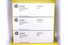 Genuine HP CB381YC CB382YC CB383YC Toner Cyan Yellow Magenta 824A  (Pack of 3)