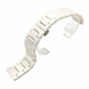 New Ceramics Bracelet Replacement Watch Band Strap Stainless Steel Metal Clasp