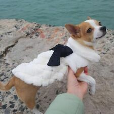 Elegant Luxury Fur Winter Overcoat Small Dog Cat White Coat