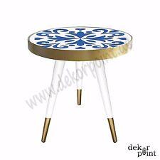 Beistelltisch Couchtisch Nachttisch Tisch Table mit Design Motiv Blue Kunst