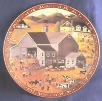 THE AUCTION 2nd In Home In The Heartland Series Folk Art Collectors Plate 1995