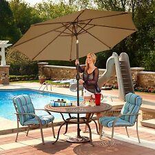Large Outdoor Umbrella Picnic Table Patio Island Camping Octagonal Crank Tilt