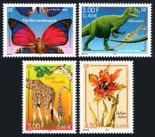 France 2776-2779, Mnh. Nature: Butterfly, Giraffe, Allosaurus, Tulipa lutea,2000