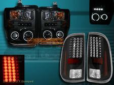 08-10 FORD F250/F350/F450 LED PROJECTOR HEADLIGHTS CCFL HALO & LED TAIL LIGHTS