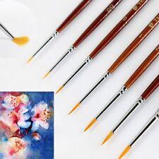 7Pcs Professional Paint Brush Set Sable Hair Detail Miniature Acrylic Brushes HQ