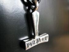 Thors Hammer Silber 925'er Wikinger Ketten Anhänger Runen  / KA 154