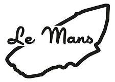 Le Mans circuito de carreras Coche Pegatina de vinilo F1 Grand Prix de Fórmula uno francés