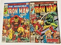 The Invincible Iron Man Comic issues #96 #97 Marvel Bronze Age Lot #96 #97