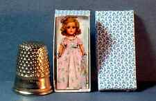 Dollhouse Miniature 1:12 Nancy Lee Doll Box 1940s 1950s retro Dollhouse girl